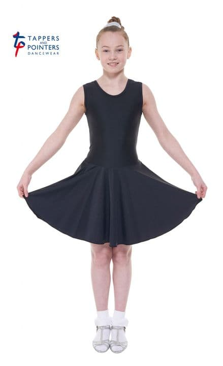 Tappers and Pointers Ballroom Black  Sleeveless Plain Front Dresses BR/1